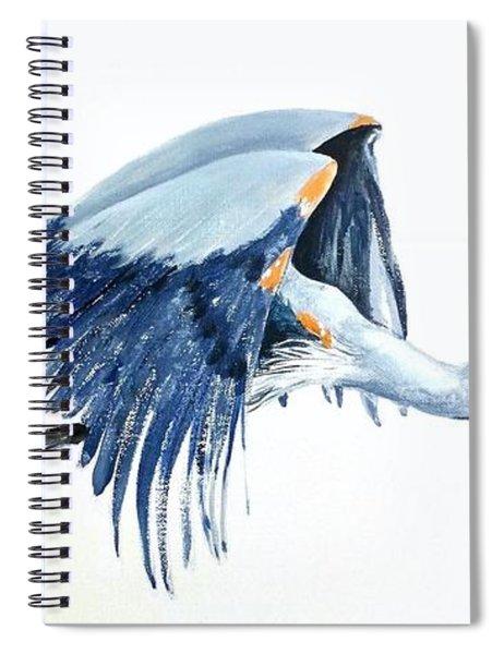 Heron In Flight Spiral Notebook