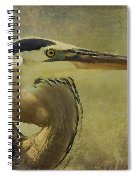 Heron On Texture Spiral Notebook