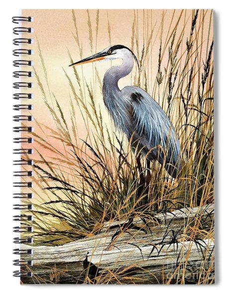 Heron Sunset Spiral Notebook
