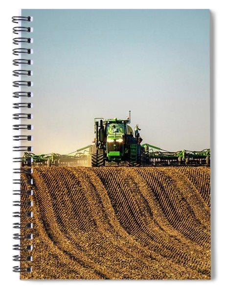 Herringbone Sowing Spiral Notebook