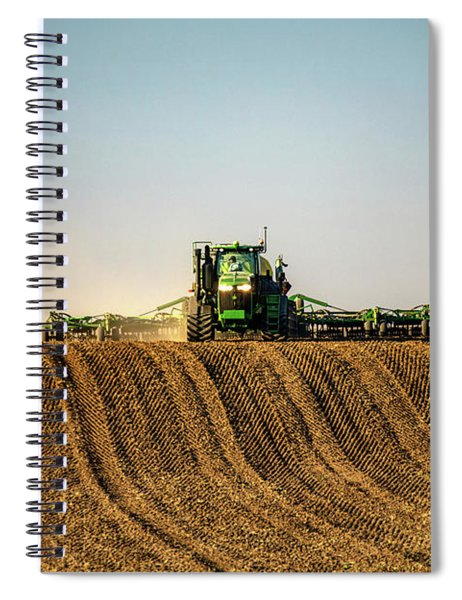 Herringbone Sowing Spiral Notebook