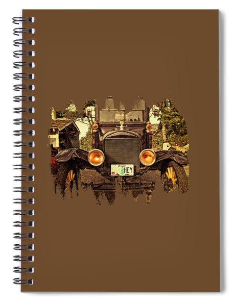 Hey A Model T Ford Truck Spiral Notebook