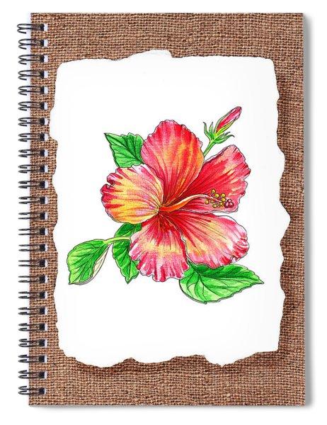 Hibiscus Flower Botanical Spiral Notebook