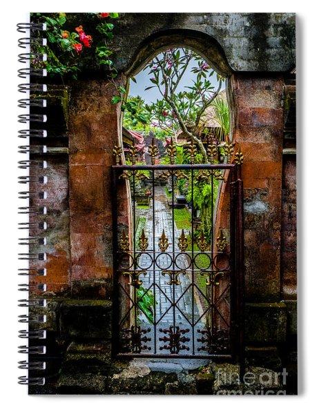 Bali Gate Spiral Notebook