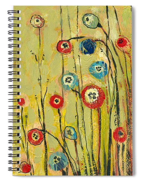 Hidden Poppies Spiral Notebook by Jennifer Lommers