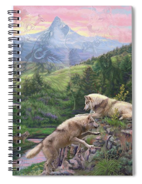 Hidden Wolves Spiral Notebook
