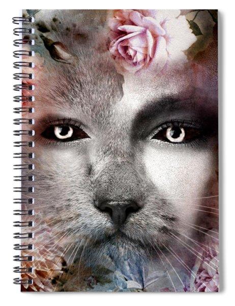 Hiding Catlady Spiral Notebook
