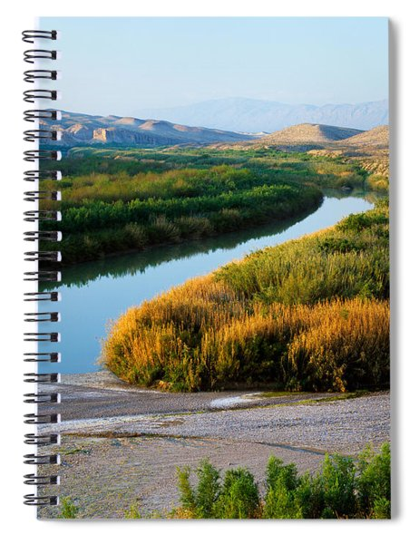 High Angle View Of Rio Grande Flood Spiral Notebook