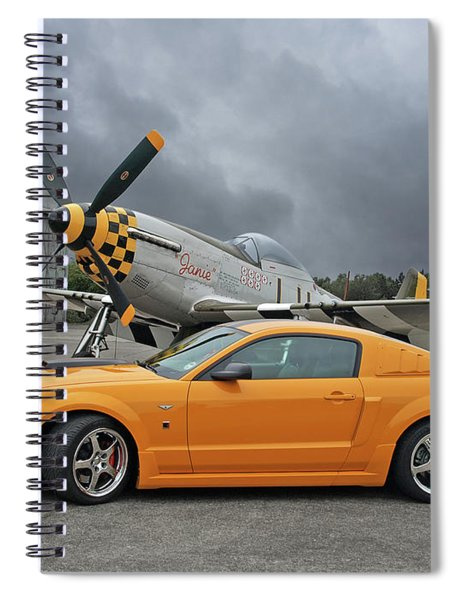High Flyers - Mustang And P51 Spiral Notebook