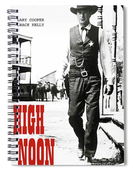 High Noon, Gary Cooper Spiral Notebook