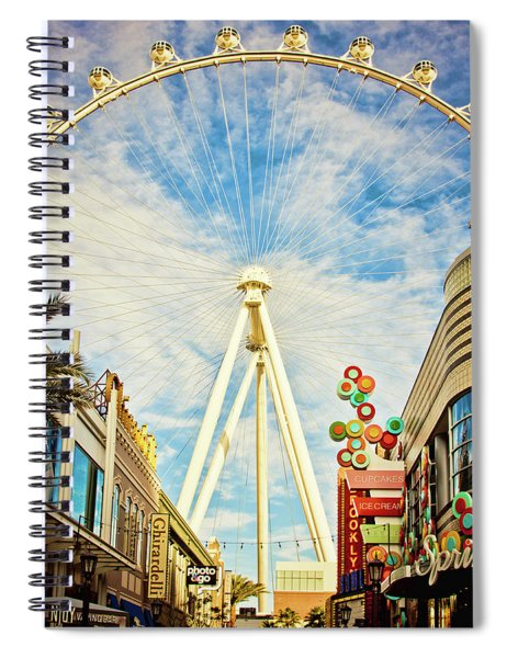 High Roller Wheel, Las Vegas Spiral Notebook