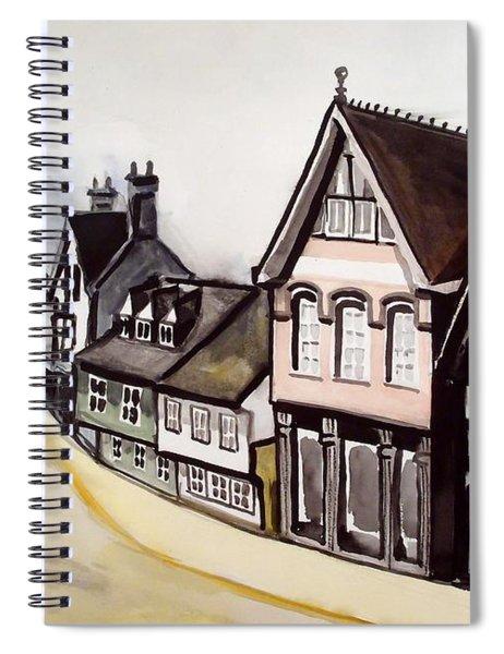High Street Of Stamford In England Spiral Notebook