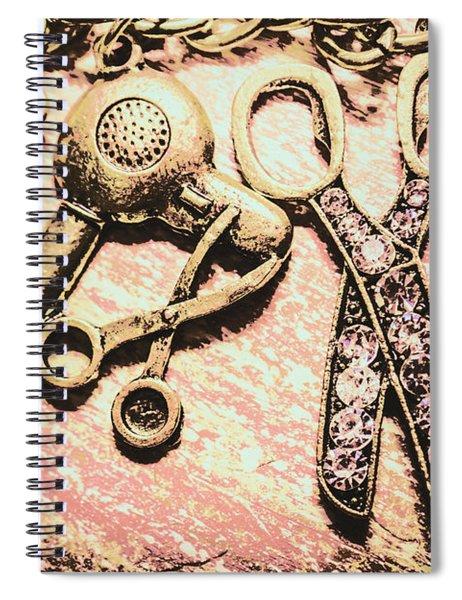 High Style Hairdresser Kit Spiral Notebook