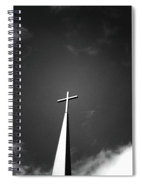 Higher To Heaven - Black And White Photography By Linda Woods Spiral Notebook