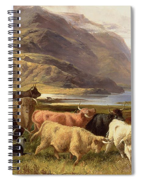 Highland Cattle With A Collie Spiral Notebook