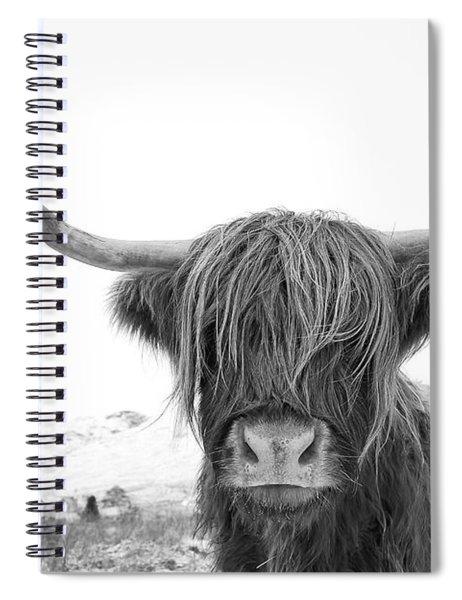 Highland Cow Mono Spiral Notebook