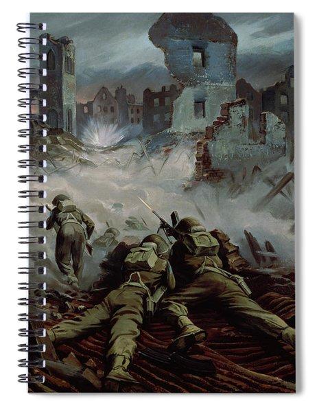 Highlanders Advancing To Caen Spiral Notebook