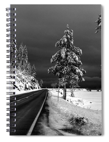Highway 200 Near Hope Spiral Notebook