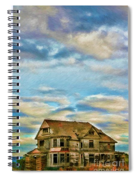 Highway One Old Abandoned House Spiral Notebook
