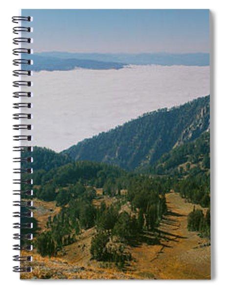Hiker Enjoying In A Valley, Jackson Spiral Notebook