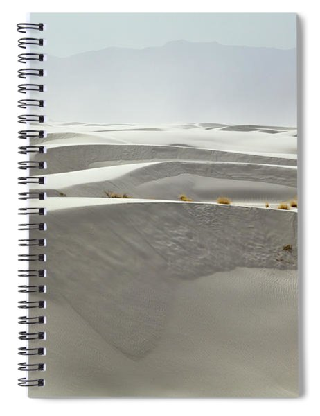 Hikers At White Sands Spiral Notebook