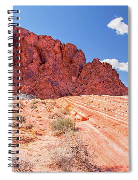Hiking To The Fire Wave Spiral Notebook
