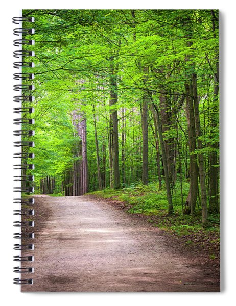 Hiking Trail In Green Forest Spiral Notebook