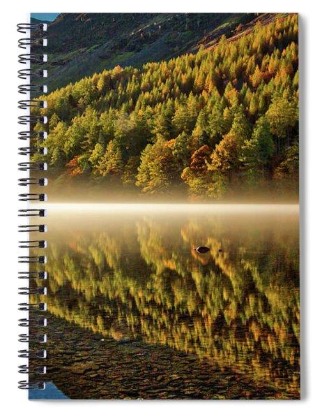 Hills In The Mist Spiral Notebook