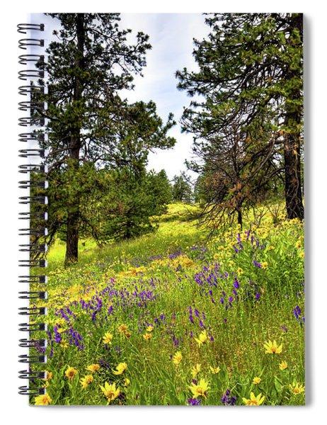 Hillside Meadow Spiral Notebook