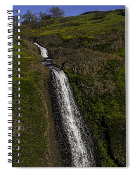 Hillside Waterfall Spiral Notebook