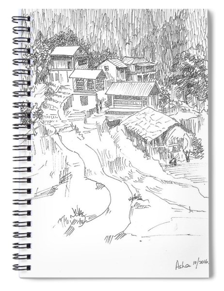 Hilly Houses Spiral Notebook