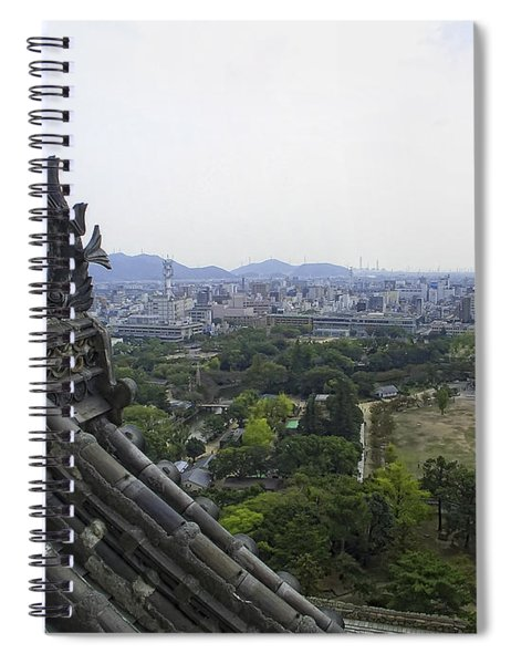 Himeji City From Shogun's Castle Spiral Notebook