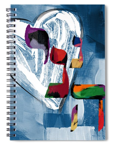 Hineni Heart- Art By Linda Woods Spiral Notebook