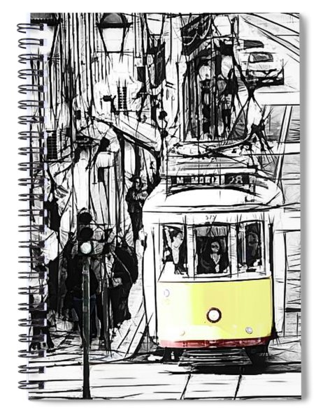 Hint Of Yellow Spiral Notebook