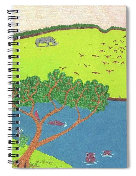Hippo Awareness Spiral Notebook