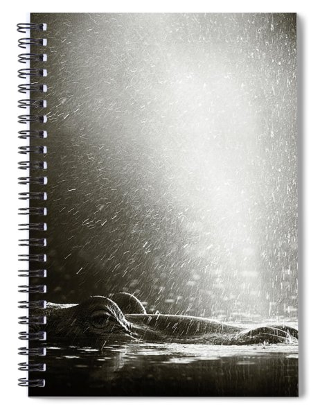 Hippo Blowing  Air Spiral Notebook