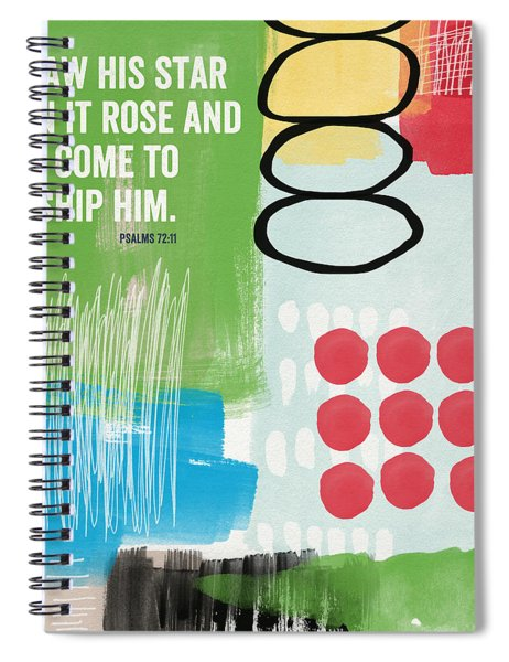 His Star Rose- Contemporary Christian Art By Linda Woods Spiral Notebook