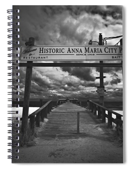 Historic Anna Maria City Pier 9177436 Spiral Notebook