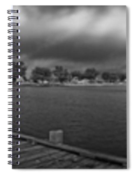 Historic Anna Maria City Pier In Infrared Spiral Notebook
