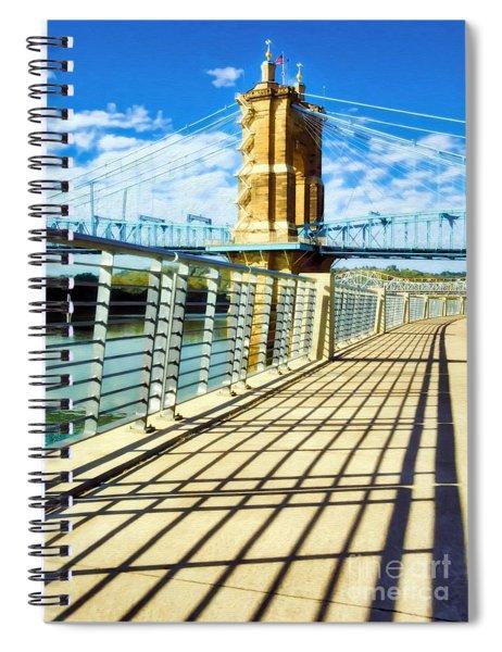 Historic Bridge In Cincinnati Spiral Notebook by Mel Steinhauer