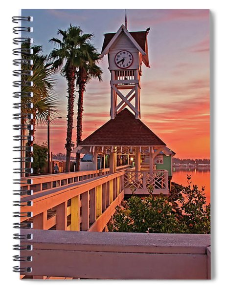 Historic Bridge Street Pier Sunrise Spiral Notebook