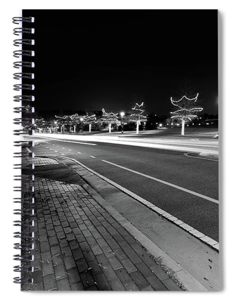 Spiral Notebook featuring the photograph Historic Buford At Christmas by Doug Camara