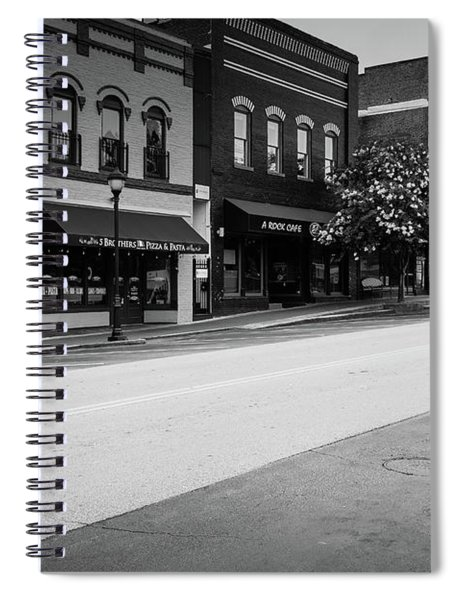 Spiral Notebook featuring the photograph Historic Buford Downtown Area by Doug Camara
