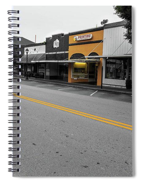Historic Buford In Selective Color Spiral Notebook