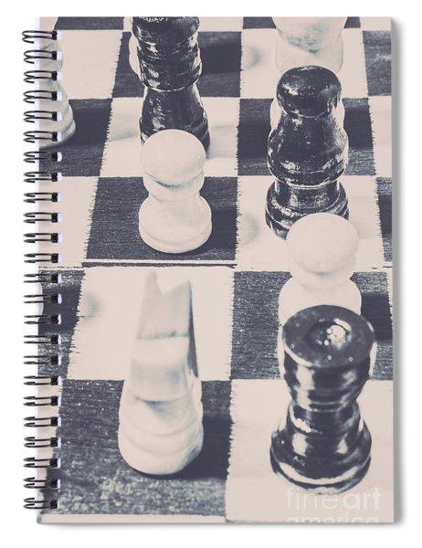 Historic Chess Nostalgia Spiral Notebook