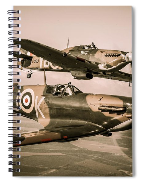 Historic Fighter Planes Spiral Notebook