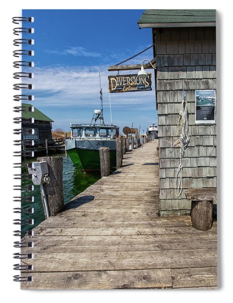 Spiral Notebook featuring the photograph Historic Fishtown 12 by Heather Kenward