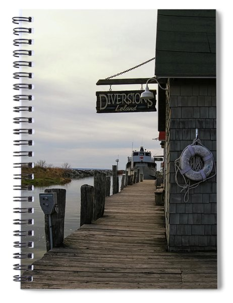 Spiral Notebook featuring the photograph Historic Fishtown 5 by Heather Kenward