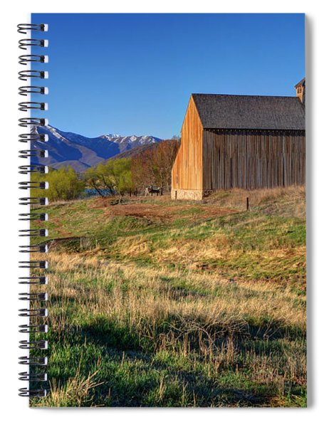 Historic Francis Tate Barn - Wasatch Mountains Spiral Notebook