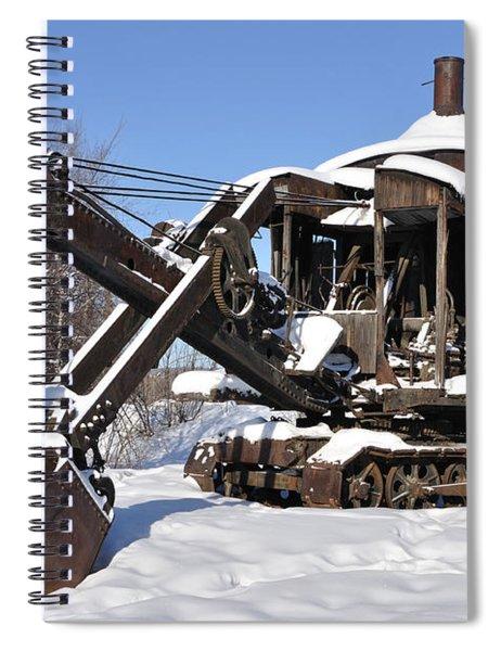 Historic Mining Steam Shovel During Alaska Winter Spiral Notebook